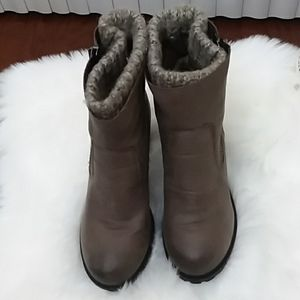 NEW BOOTS SZ 8 BROWN CHARLOTTE RUSSE FREYA STYLE